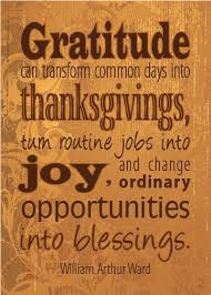 gratitude can transform common days into thanksgivings prayer