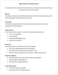 program outline template 9 free sample example format
