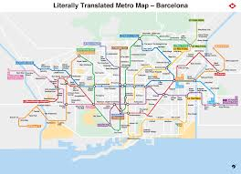 Viking Map Literally Translated Metro Map Barcelona X Post From R