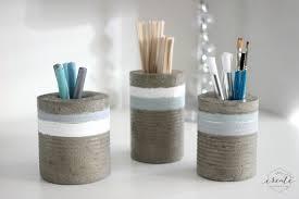 Tin Vases Concrete Vases From Tin Cans Hometalk