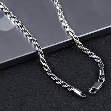 real silver necklace images 100 real pure 925 sterling silver necklace for men italy chain 925 jpg