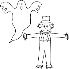 halloween crossword puzzle printable ghost with scarecrow coloring page halloween