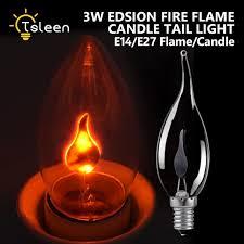 light bulbs that flicker like candles 2018 new e27 e14 led l fire flame effect light bulb edison