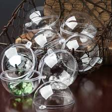 60mm clear acrylic fillable ornaments acrylic fillable