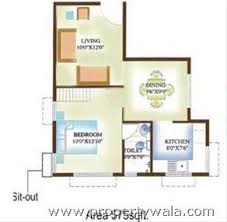 1 bhk floor plan trinity sunrise sarjapur road bangalore apartment flat