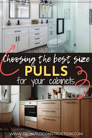 why are my cabinets pulling away from the wall how to choose the best size pulls for your cabinets