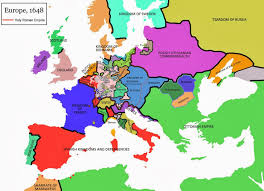 europe 1648 map historical maps