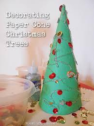 easy craft paper cone trees roaming rosie