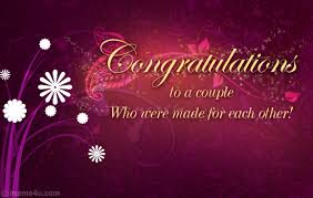 free wedding cards congratulations welcum bak wishing u a happy married lyf tafreeh mela