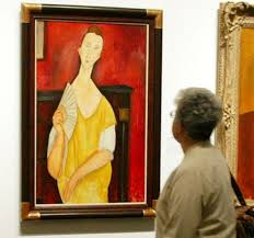 modigliani woman with a fan spiderman burglar on trial over 100m paris art haul