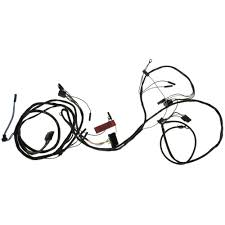 mustang wiring harness headlight firewall with gauges 1965