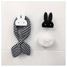 nordic style black white cute wooden rabbit home decor rabbit