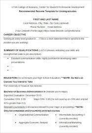 college graduate resumes college graduate resume template for resumes a student 7 printable