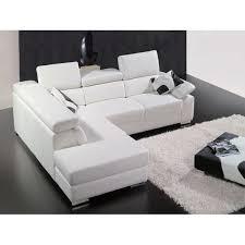 canape cuir blanc canape cuir a302 blanc achat vente canapé sofa divan cuir
