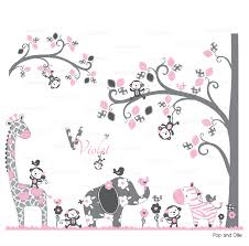 and jungle animals and pattern tree and branch die