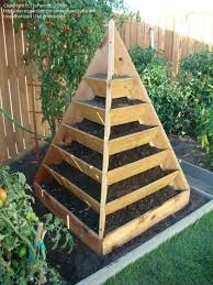 very cool vertical garden pyramid would be super fun for
