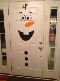 frozen birthday party olaf front door decoration kid birthday