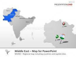 middle east map ppt powerpoint maps of all asia pacific countries presentationload