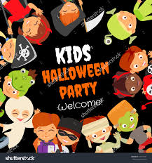 Home Interior Party Companies Funny Halloween Party Design Concept With Happy Kids In Save To A