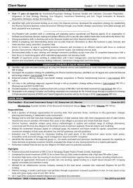 Sample Resume Investment Banking by Sample Resume Cfo Accounting Executive Sample Resume Supply Clerk