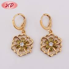 earring design new 2018 indian 22k gold hanging earring design for women view