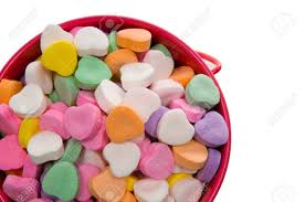 s candy hearts of candy hearts in assorted colors for s