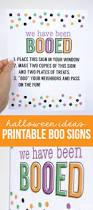 halloween ideas printable boo signs