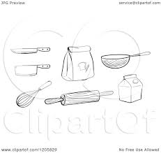 white kitchen knives cartoon of black and white kitchen knives whisk rolling pin flour