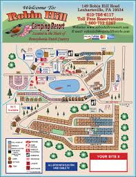 Pennsylvania Attractions Map by Campground Map Robin Hill Rv Resort Pa