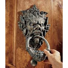cool door knockers amazon com design toscano vecchio greenman authentic iron door