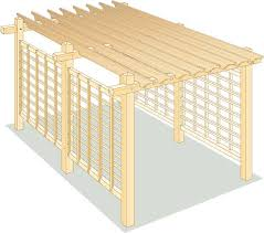Roofing For Pergola by How To Build A Pergola For Backyard Shade Diy Mother Earth News