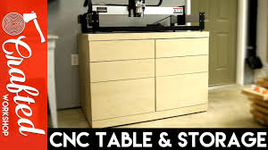 Cnc Kitchen Cabinets Diy Cnc Table U0026 Tool Storage Cabinet How To Build Youtube