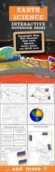 earth science for science interactive notebooks topics include