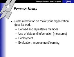 baldrige national quality program 2004 using the baldrige criteria