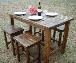 Bar Height Bistro Table Dining Room Delightful Outdoor Dining Room Using Rustic