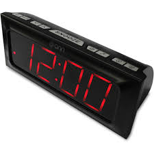 onn am fm digital clock radio walmart com