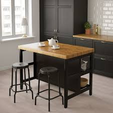 how to build a kitchen island with seating vadholma kitchen island black oak width 49 5 8 ikea