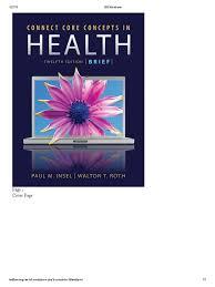 connect core concepts in health twelfth edition brief preventive