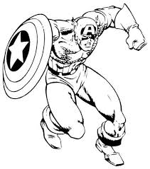 Captain America Printable Coloring Pages Free Coloring Captain Captain America Coloring Page