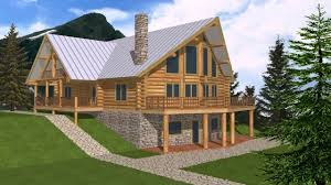 log home floor plans with basement log cabin floor plans with walkout basement