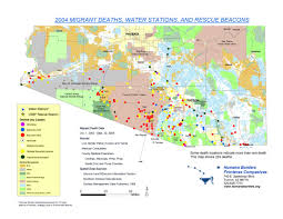 University Of Arizona Map Migrant Death Mapping Humane Borders