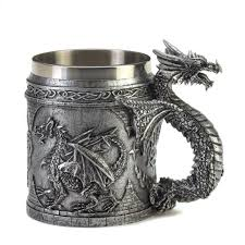 Medieval Dragon Home Decor by Wholesale Decorative Celtic Dragon Mug Pewter Tone Serpentine