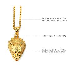 charms gold wolf necklaces hip hop bling ornaments