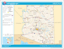 Picture Of Map Map Of Arizona Overview Map Worldofmaps Net Online Maps And
