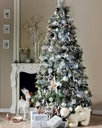 Blue And Silver Christmas Tree - charming design silver christmas decorations 33 exciting and white