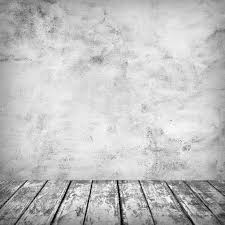 empty room with concrete wall and wooden floor u2014 stock photo