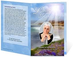 funeral programs printing new funeral program customization services create lasting