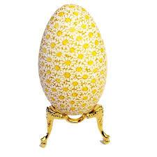 easter egg stands center gold elaborate goose egg stand