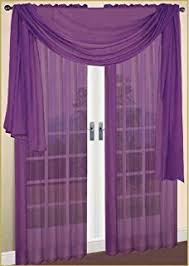 Buy Valance Curtains Amazon Com Monagifts Gray Scarf Voile Window Panel Solid Sheer