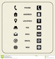 Email Business Card by Set Of Web Icons For Business Cards Finance And Communication
